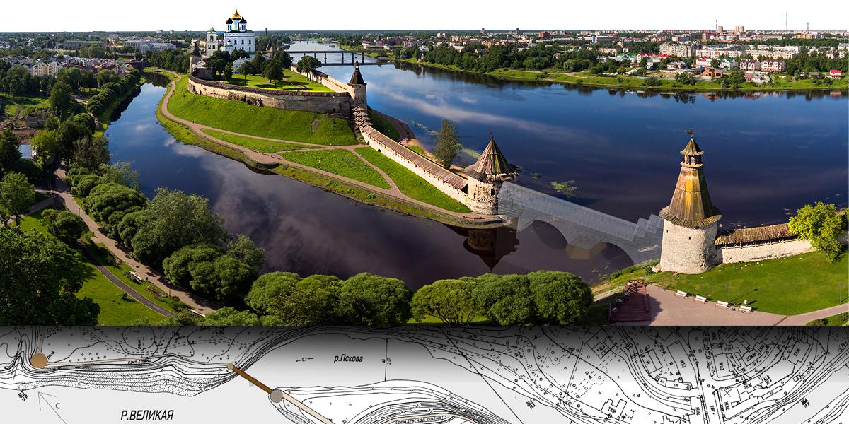 Студенты МАРХИ представили эскизы моста через реку Пскову
