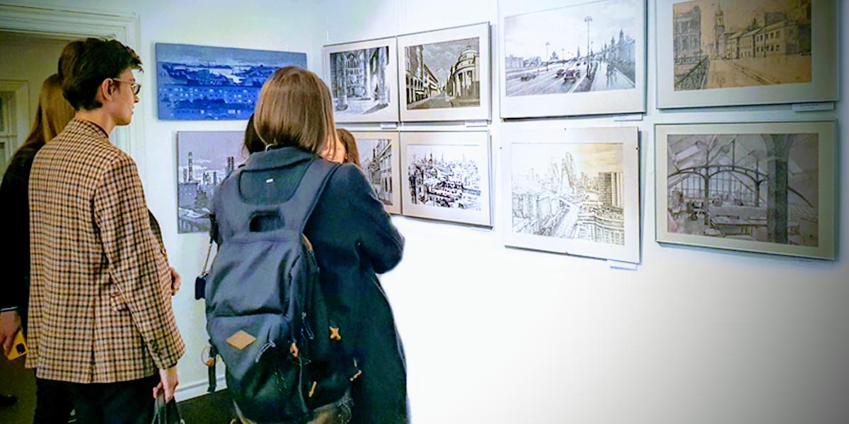 Открытие выставки студенческих работ «Рисунок архитектуры»